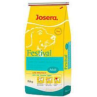 Josera Festival  Йозера Фестивал гипоаллергенный корм для собак (лосось и рис) 15 кг