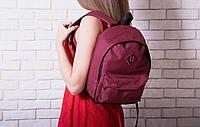 Рюкзак женский модный портфель канкен мини бордовый