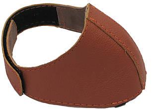 Автопятка кожаная для женской обуви светло коричневая 608835-3