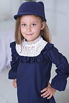 Стильное платья в английском стиле с белоснежным кружевом из натурального льна. , фото 2