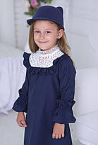 Стильное платья в английском стиле с белоснежным кружевом из натурального льна. , фото 3