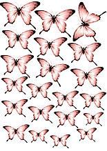 Вафельные картинки Бабочки 14