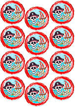 Вафельная картинка для Cupcake Пираты 5