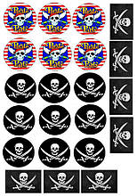 Вафельная картинка для Cupcake Пираты 3