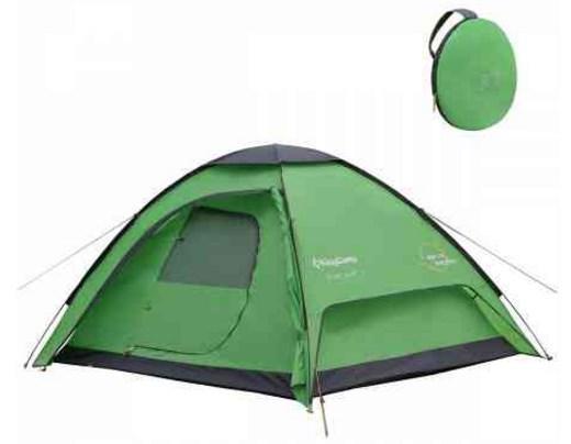 Трехместная туристическая палатка Kingcamp, зеленая, двухслойная, TUSCANY 3(KT3039) Green