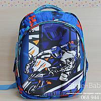 Футуристический каркасный школьный рюкзак для мальчика 30х15x40 см