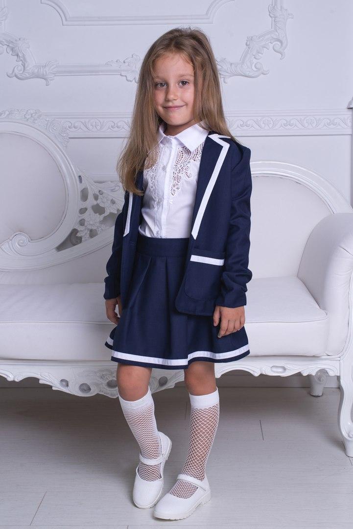 Костюм двойка: пиджак+юбка для девочки