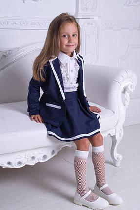 Костюм двойка: пиджак+юбка для девочки, фото 2