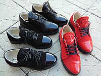 Женские Кожаные классические туфли на шнурках Chanel