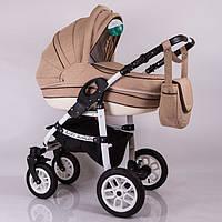 """Детская коляска универсальная 2 в 1 """"Baby Marlen"""" Cappuccino"""