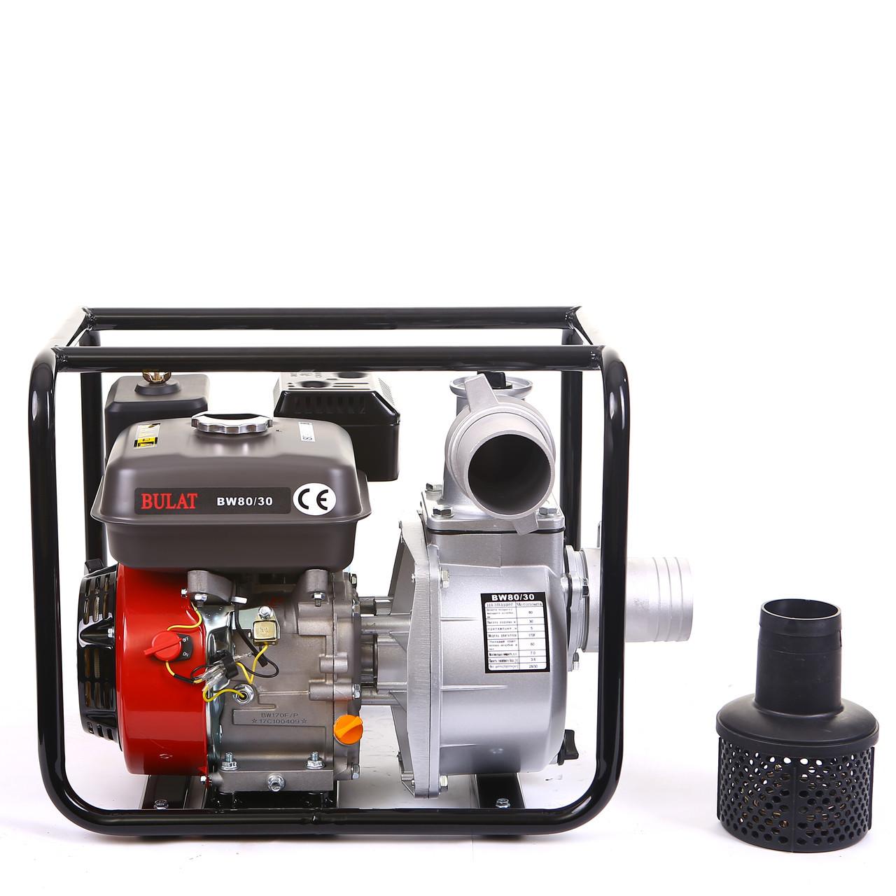 Мотопомпа BULAT BW80-30 (80 мм, 60 куб.м/час) (Weima 80-30)