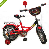 Велосипед детский PROF1 МУЛЬТ 14Д. PO1442 Original,крас-черн,зеркало,звонок,доп.кол NPX