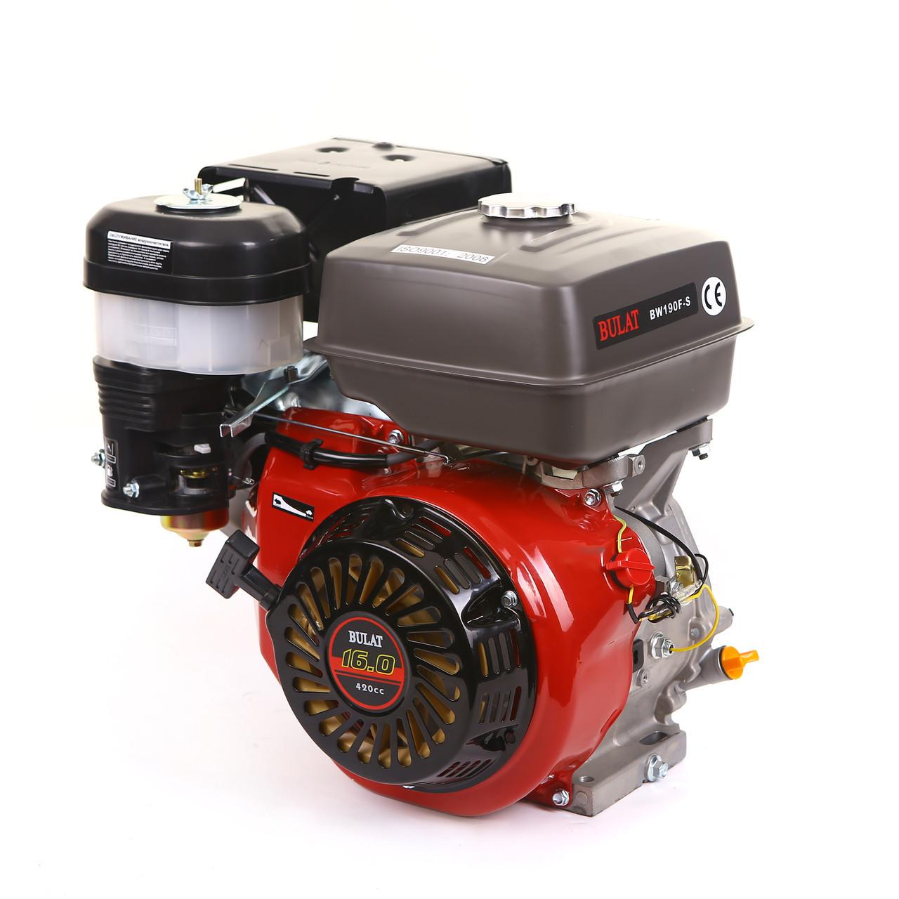 Двигатель бензиновый BULAT BW190F-S (16 л.с., шпонка) (Weima 190)