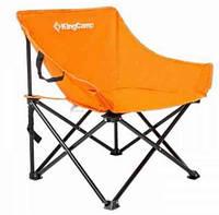 Раскладное кресло Kingcamp из полиестера, оранжевое,  нагрузка до 100 кг. Steel Folding Chair(KC3975) Orange
