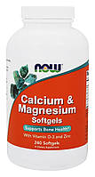 Кальций и магний комплекс / NOW - Calcium & Magnesium Softgels (240 softgels)
