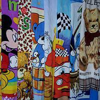 Детская простыня из микрофибра, с героями мультфильмов