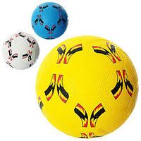 Мяч футбольный VA-0024 размер 5, резина Grain, 350г, сетка, игла для накачивания мячей, в кульке, 3 цвета VD