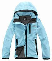Женская спортивная куртка The north face голубая