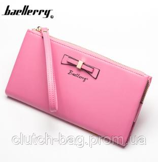 4a4eeee1f1ed Розовый стильный модный женский кожаный кошелек клатч бумажник Baellerry  Новинка