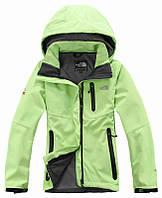 Женская спортивная куртка The north face салатневая