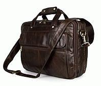 """Кожаная сумка Laptop Brown для ноутбука 15,6"""" S.J.D. 7146Q Коричневый"""