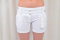 Шорты легкие летние белые с карманами на девочек подростков