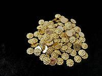 Серединки для канзаши хамелион золото   14гр