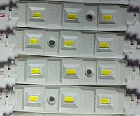 Светодиодный модуль 12V 5630 3-led lens module white