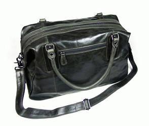 Дорожная кожаная сумка S.J.D. 7071J Черный
