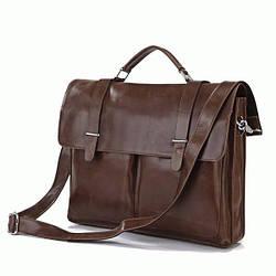 Портфель S.J.D. 7100B кожаный Коричневый