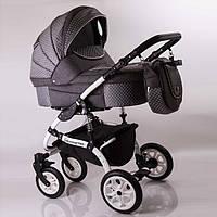 """Детская коляска универсальная 2 в 1 """"Sherry Lux"""" Gray (Лен)."""