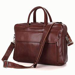 Портфель S.J.D. 7333B-1 кожаный Коричневый
