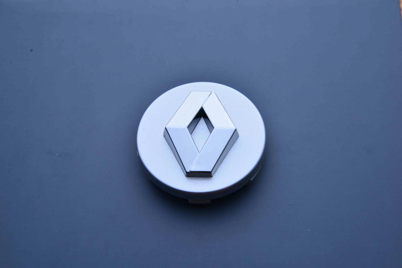 Колпачки заглушки на литые диски в диски Renault Рено (60/57/9) серебр