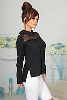 Блуза женская с кружевом в расцветках 20234, фото 1
