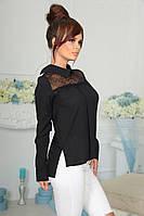 Блуза женская с кружевом в расцветках 20234