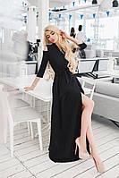Женское платье в пол  в черном цвете