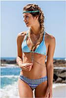 Легкий яркий с плетением женский купальник. Хорошее качество. Доступная цена. Дешево. Код: КГ1695
