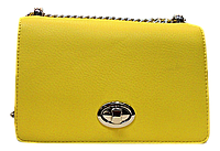 Прямоугольная женская сумочка DAVID DJONES желтого цвета LLW-080122
