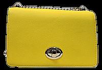 Прямоугольная женская сумочка DAVID DJONES желтого цвета LLW-080122, фото 1