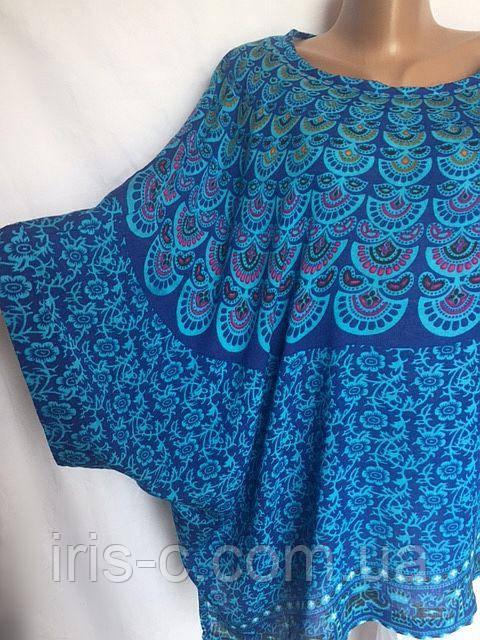 Женская блуза Melange, из мягкого х/б поплина с ярким рисунком размер 24