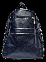 Небольшой женский рюкзак из искусственной кожи синего цвета  WLQ-700021, фото 1