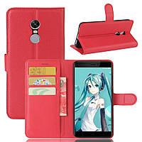 Чехол для Xiaomi Redmi Note 4X / Note 4X Global книжка кожа PU красный