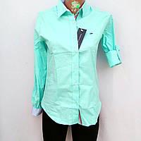 Женская классическая рубашка-блуза.Турция длинный рукав однотонная Tommy Hilfiger