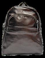 Небольшой женский рюкзак из искусственной кожи коричневого цвета  WLQ-700429, фото 1