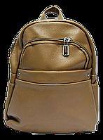 Небольшой женский рюкзак из искусственной кожи темно бежевого цвета  WLQ-708565, фото 1