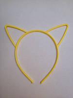 Ободок для волос детский с ушками, ширина 6 мм. Жёлтый, фото 1