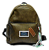 Удобный женский рюкзак из искусственной кожи болотного цвета  JJH-003112
