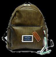 Удобный женский рюкзак из искусственной кожи болотного цвета  JJH-003112, фото 1