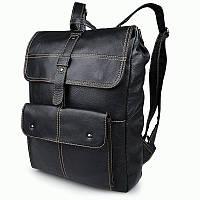 Кожаный мужской рюкзак S.J.D. 7335A  Черный