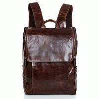 Мужской кожаный рюкзак S.J.D. 7344C Коричневый